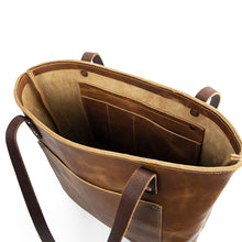 Load image into Gallery viewer, Market-Leather-tote-bags-05 | English Tan