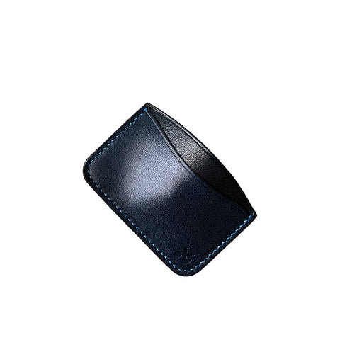 blue and black minimalist leather wallets