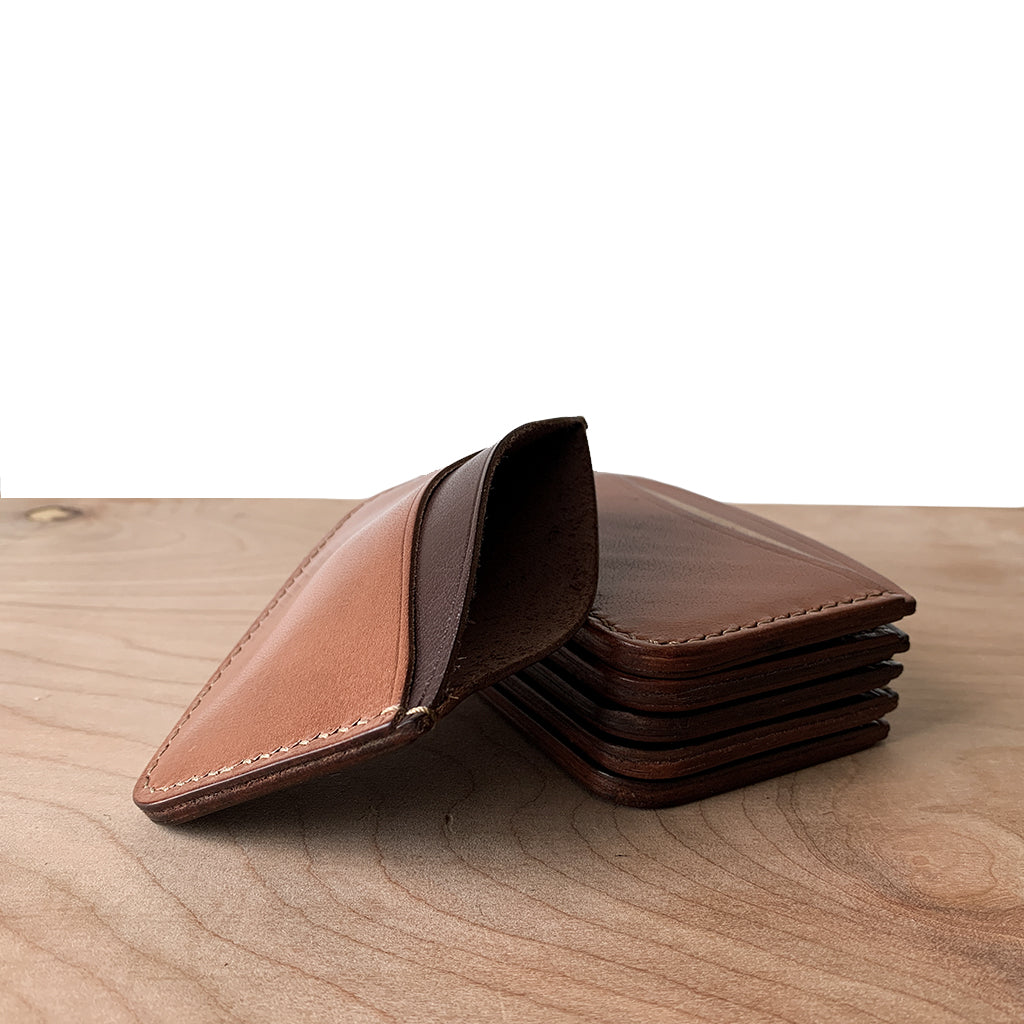 Micro leather wallets handmade