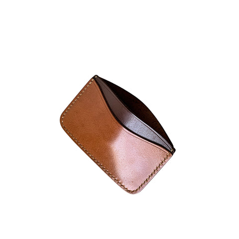 British tan slim minimalist wallets
