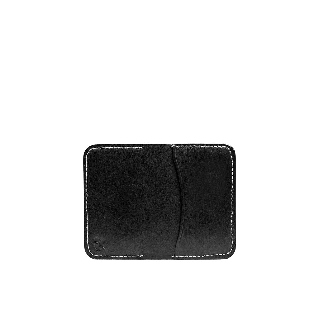 Leather Minimalist Card Holder Wallet | Navy Blue
