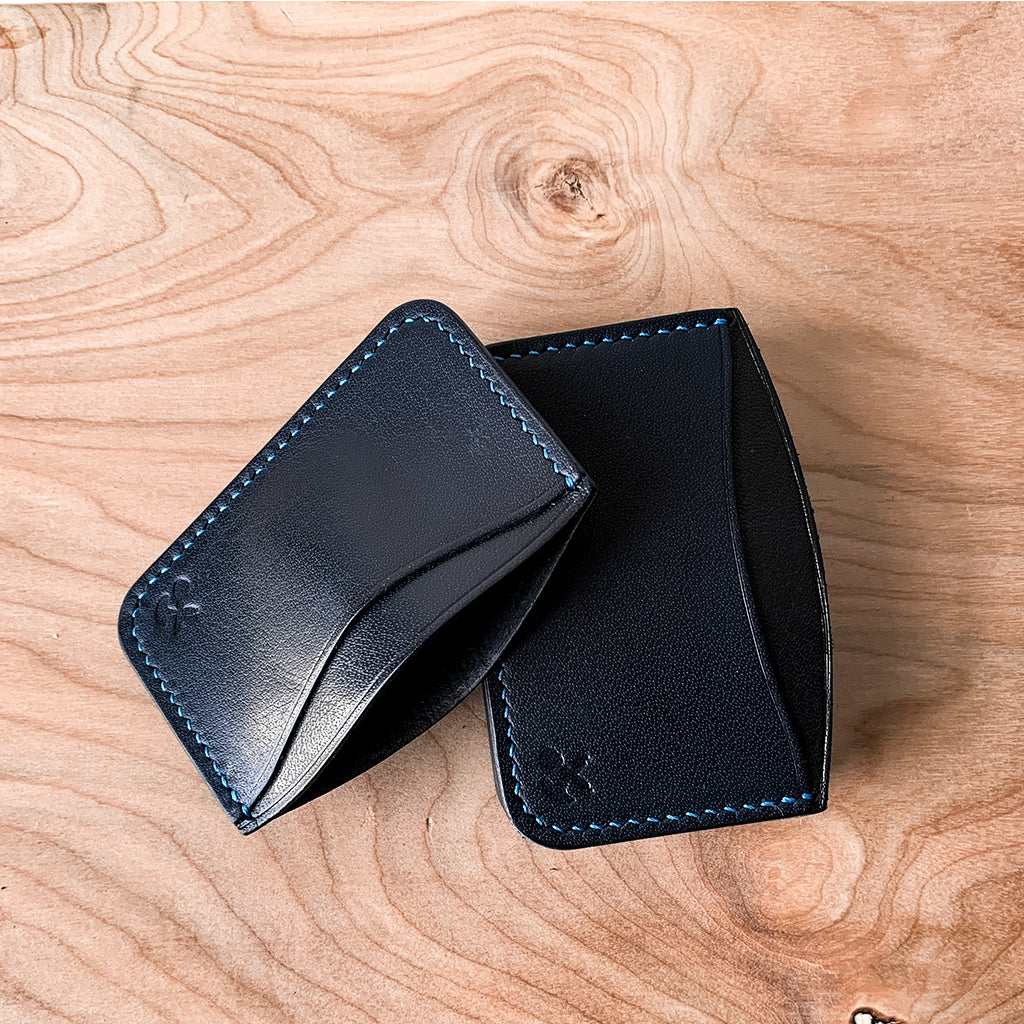 leather card holder - hanmdmade