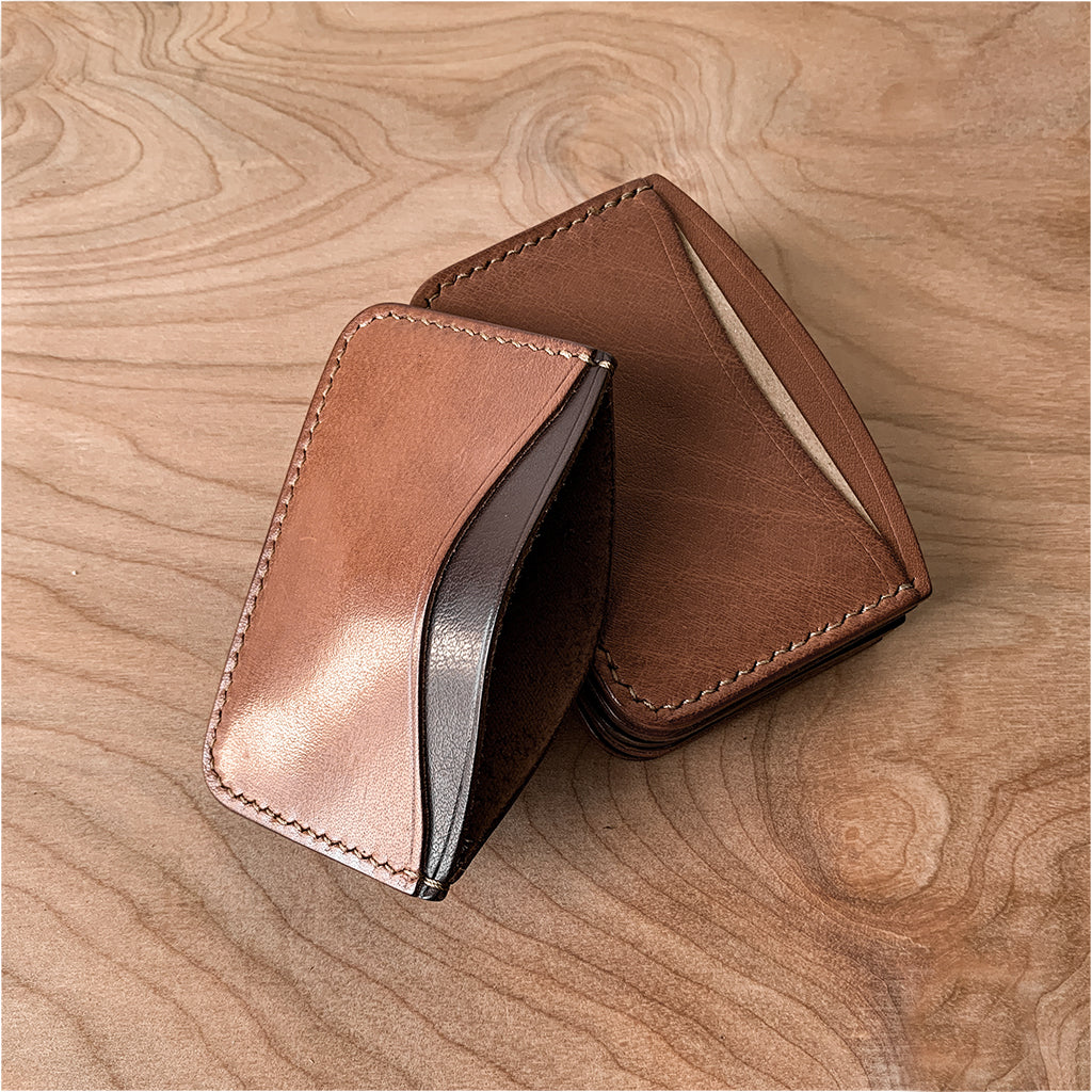 brown card holder