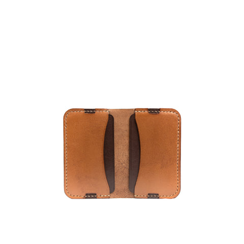 Leather minimalist card holder - Tan