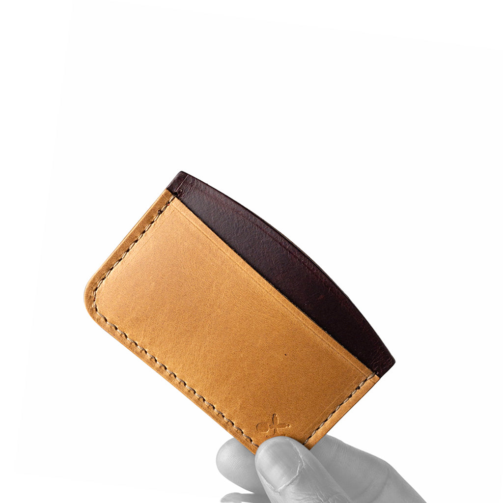leather credit card holder for men