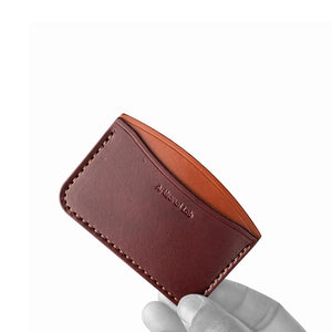 leather credit card holder | Burgundy