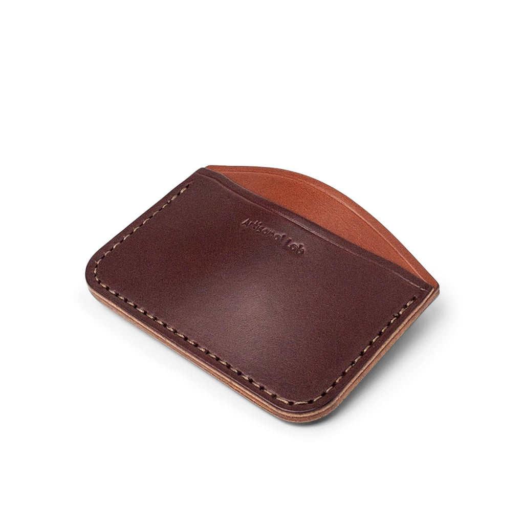 leather minimalist card wallet | brown