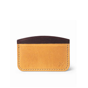 leather credit card holder | Natural