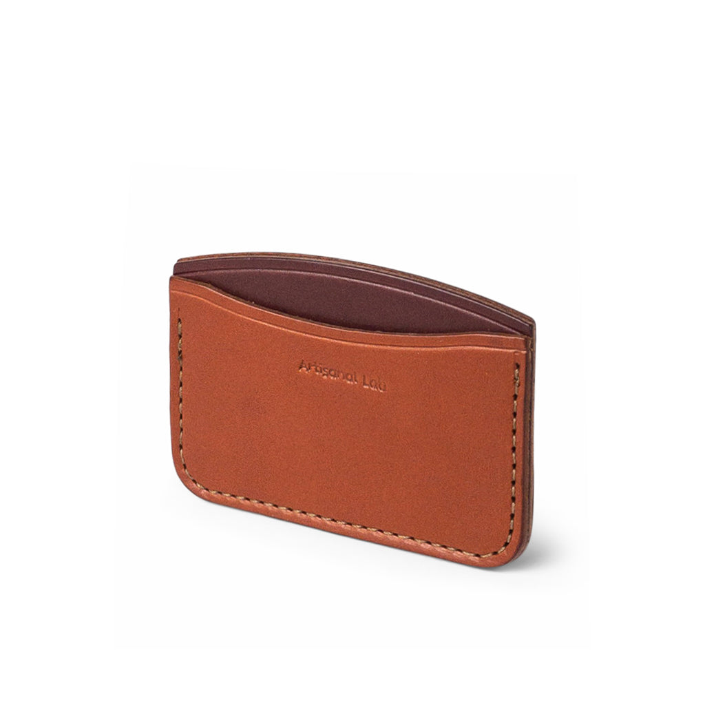 minimalist leather wallet | tan