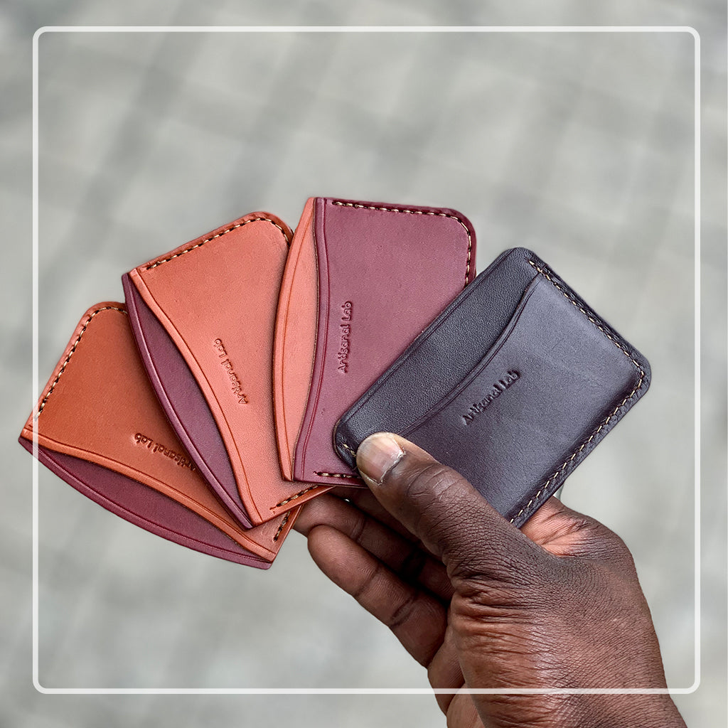 leather minimalist card wallet collection