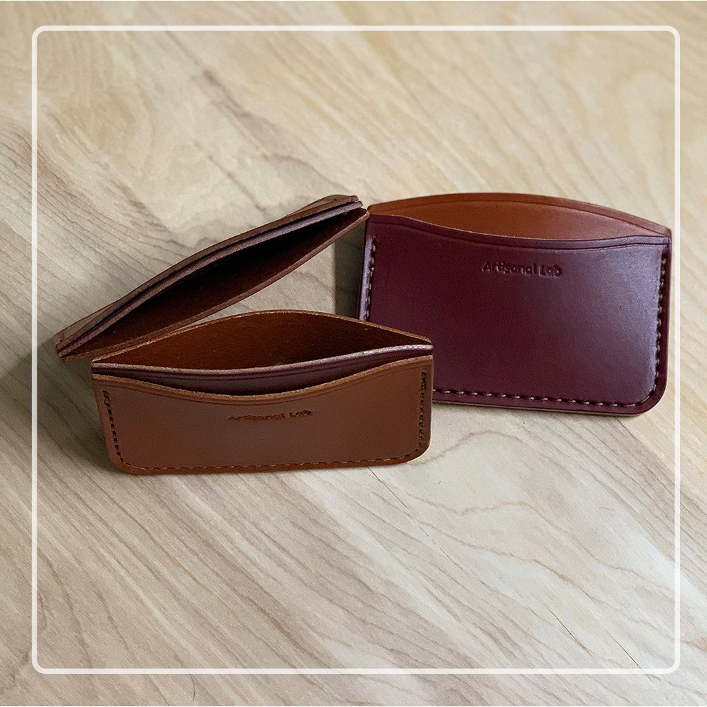 Leather micro wallet set