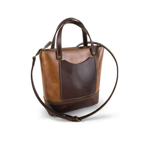 Crossbody tote bag leather
