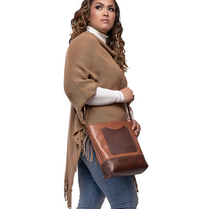 mini Leather crossbody tote