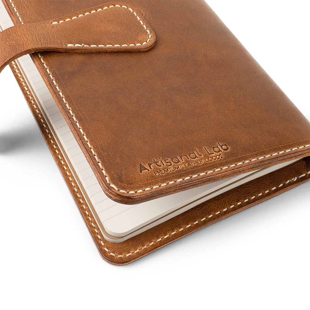 Leather Moleskine cashier cover | English Tan