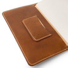 Load image into Gallery viewer, Handmade Leather Moleskine cover | English Tan
