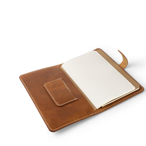 Handmade Leather Moleskine cover | English Tan