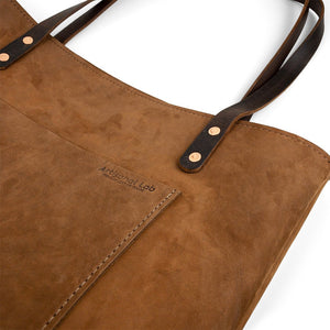 Leather Handmade tote work bag | Nubuck-01