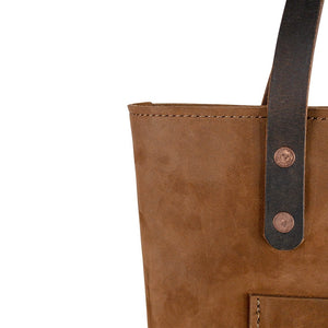 Details Leather Handmade tote work bag | Nubuck