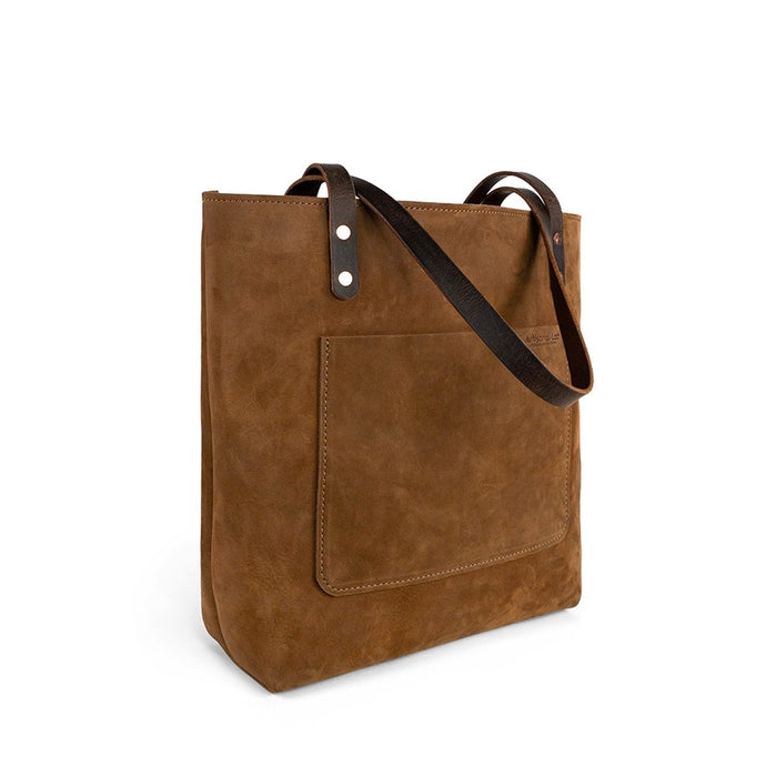 Leather Handmade tote work bag | Nubuck