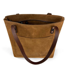 Load image into Gallery viewer, Handmade Leather Shoulder bag with zipper closure | Nubuck