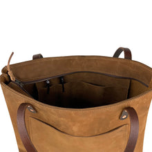 Load image into Gallery viewer, Handmade Leather Shoulder bag with zipper closure | Nubuck 01