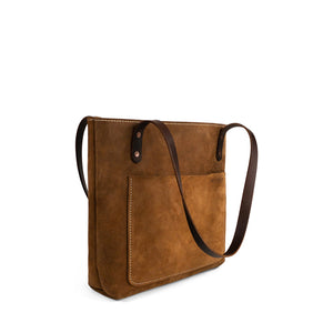 Classic Handmade Leather Tote bag | Nubuck