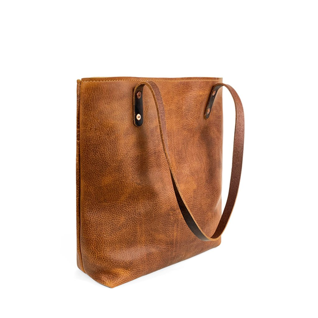 Leather Handmade work tote | Sunset Rage