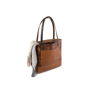 brown leather tote bags