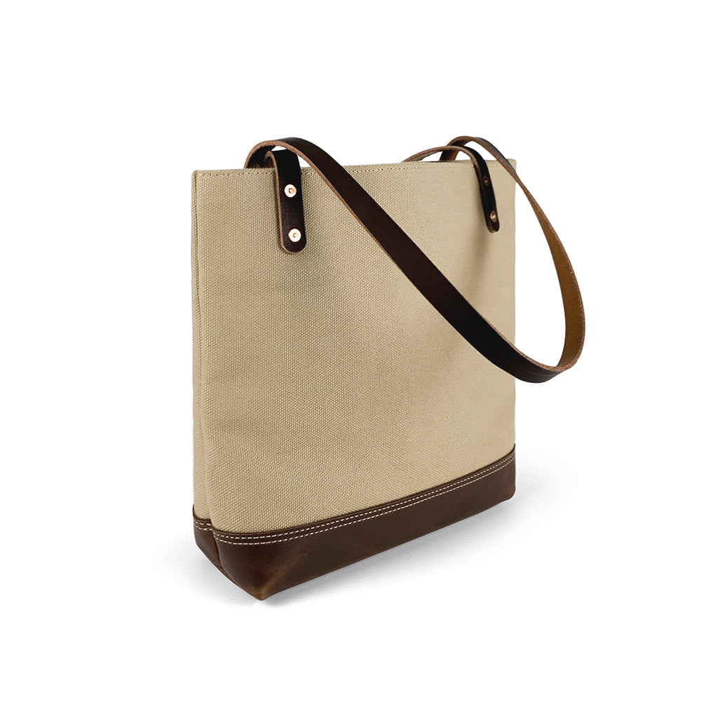 canvas and leather tote bags