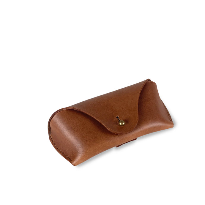 leather sunglasses case tan