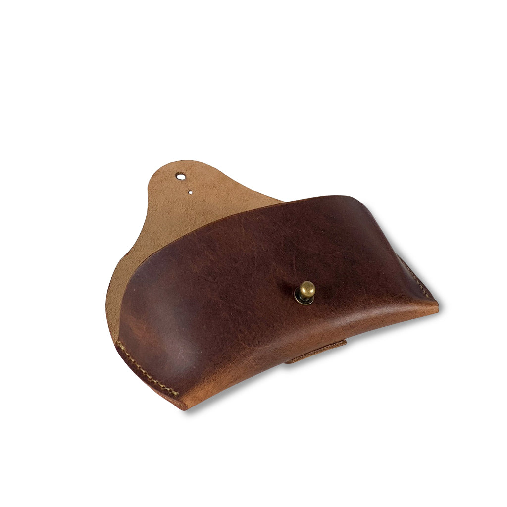 leather sunglasses case brown