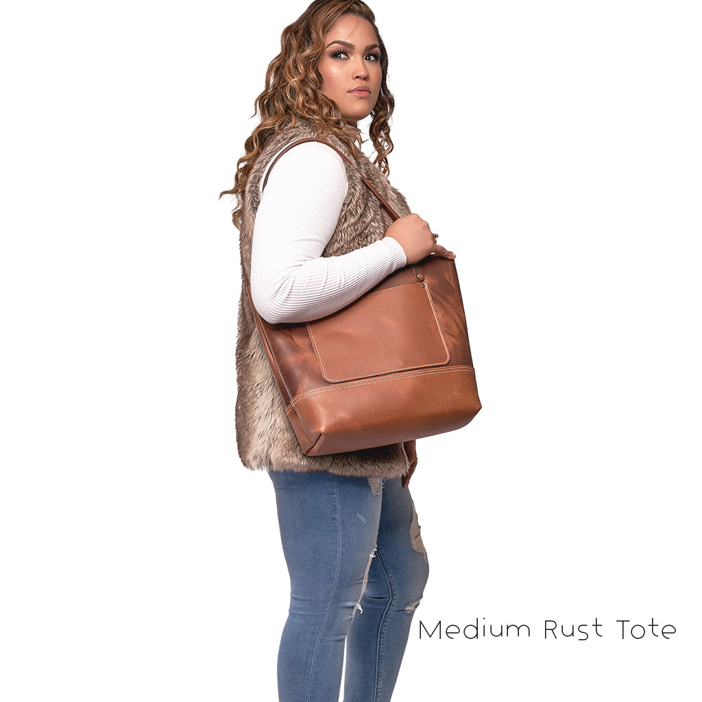 leather tote bags with pocket
