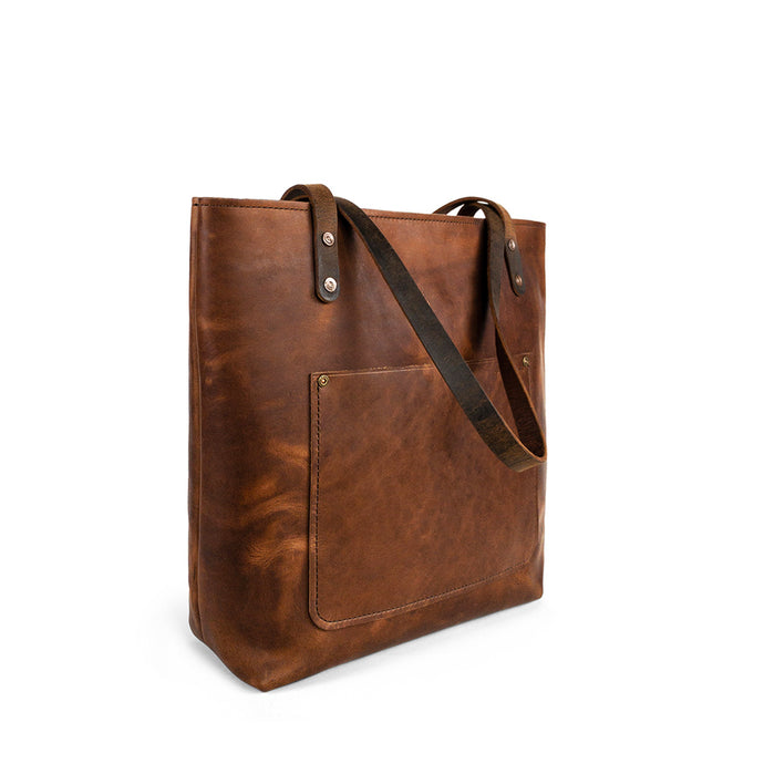 Classic Leather Tote for work | Wheat Harvest