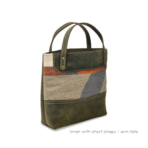 Leather tote bags brown small