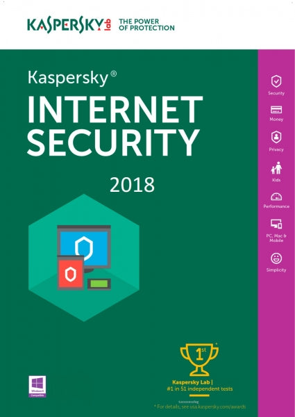 Kaspersky Internet Security 2018 1 PC / 1 Year Download - easysoftware4you.com