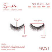SPARKLE 6D MINK FALSE EYELASHES NO.15