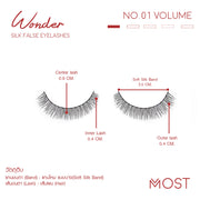 WONDER SILK FALSE EYELASHES NO.01