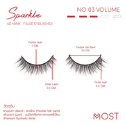 SPARKLE 6D MINK FALSE EYELASHES NO.03