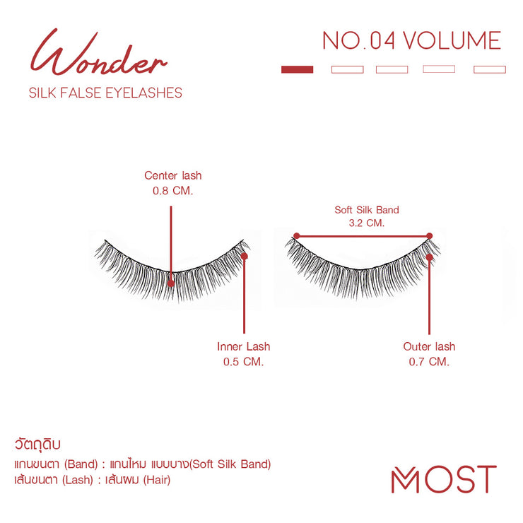 WONDER SILK FALSE EYELASHES NO.04