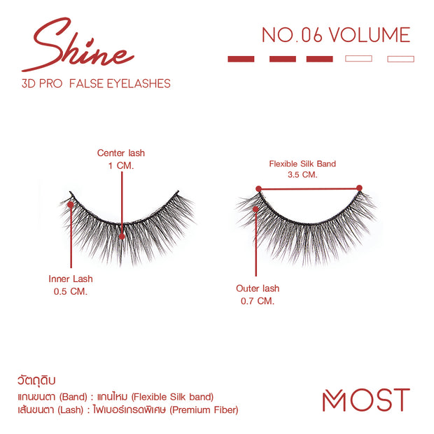 SHINE 3D PRO FALSE EYELASHES NO.06