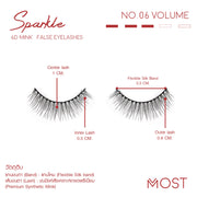 SPARKLE 6D MINK FALSE EYELASHES NO.06