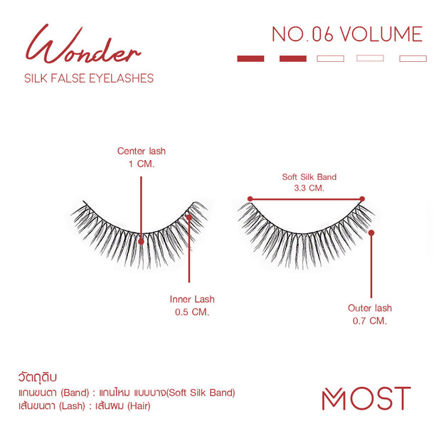 WONDER SILK FALSE EYELASHES NO.06