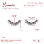 SPARKLE 6D MINK FALSE EYELASHES NO.07 (แพค 3 คู่)