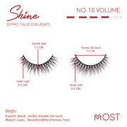 SHINE 3D PRO FALSE EYELASHES NO.10