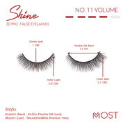 SHINE 3D PRO FALSE EYELASHES NO.11