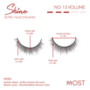 SHINE 3D PRO FALSE EYELASHES NO.13