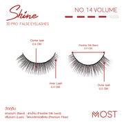 SHINE 3D PRO FALSE EYELASHES NO.14