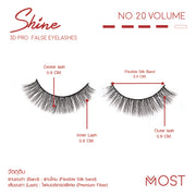SHINE 3D PRO FALSE EYELASHES NO.20