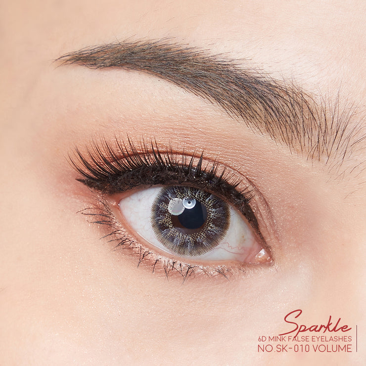SPARKLE 6D MINK FALSE EYELASHES NO.10 (แพค 3 คู่)