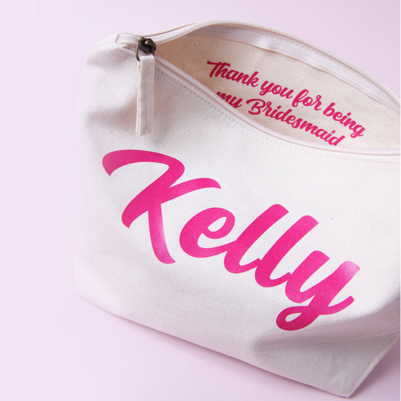 Personalised Make up Bag with Secret Message Inside